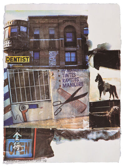 Robert Rauschenberg, 'LA Uncovered #10', 1998