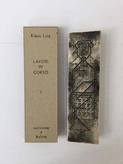 Klaus Lutz, 'Lavori in corso 1', 1980