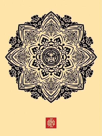 Shepard Fairey, 'Mandala 1 - Cream', 2010