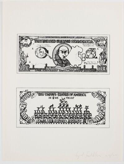 Öyvind Fahlström, '$108 Bill', 1973