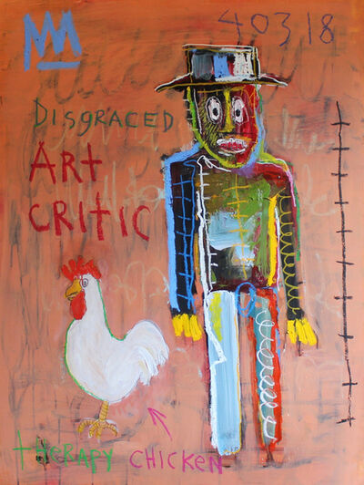 Michael Snodgrass, 'Disgraced Art Critic with Therapy Chicken', 2018