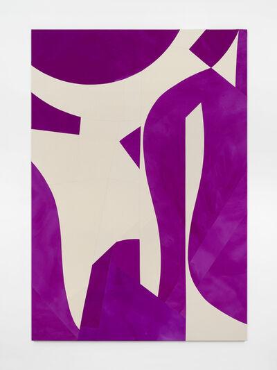 Sarah Crowner, 'Standing and Hanging Forms, Violet', 2019