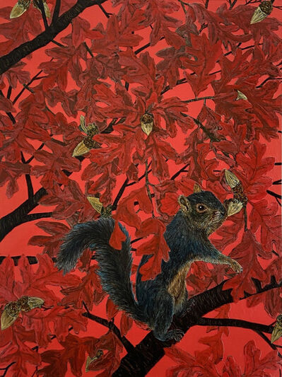 Julia Lucey, 'Squirrel on the Red Day', 2020