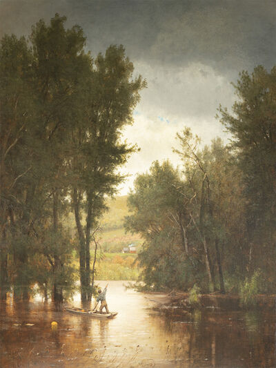 Worthington Whittredge, 'Flood on the Delaware', 1880