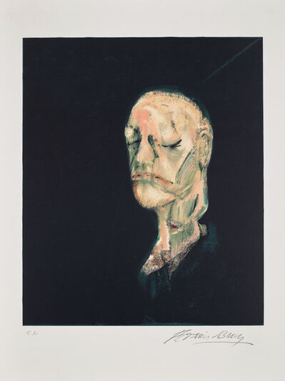 Francis Bacon, 'Masque mortuaire de William Blake (after Study of Portrait based on The Life Mask of William Blake, 1955)', 1991