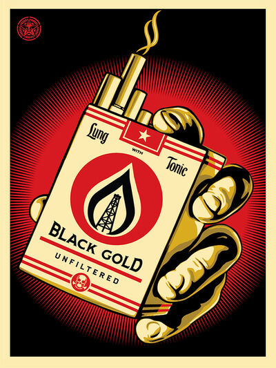 Shepard Fairey, 'Black Gold', 2015
