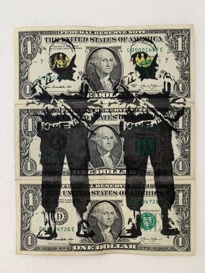 """Banksy, 'BANKSY DISMALAND US DOLLAR """"SMILEY COPPERS"""", REAL CURRENCY DOLLAR, COMPLETE WITH COA FROM DISMALAND', 2015"""