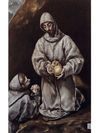 El Greco, 'Saint Francis and Brother Leo Meditating on Death ', 1610 -1614