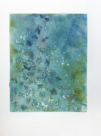 Fumiko Toda, 'Butterfly Away (Teal)', 2016