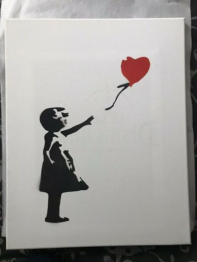 Banksy, 'BANKSY DISMALAND BALLOON GIRL CANVAS FRAMED', 2015