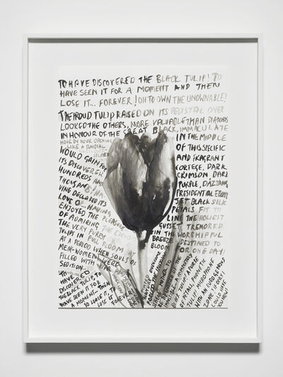 Fiona Banner, 'That Damned Elusive Black Tulip', 2017