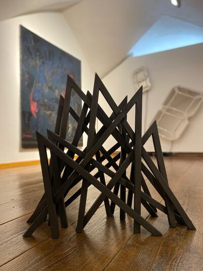 Bernar Venet, '13 Acute Unequal Angles', 2019