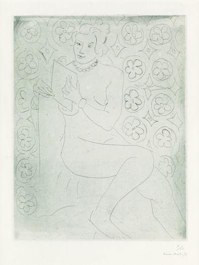 Henri Matisse, 'Figure lisant, fond moucharabieh', 1929