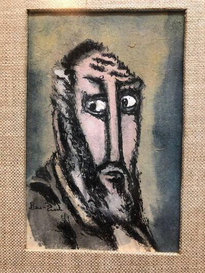 "Ben-Zion Weinman, 'Modernist Judaica Watercolor Gouache Painting ""Old Jew"" Jewish Rabbi', ca. 1940-1949"