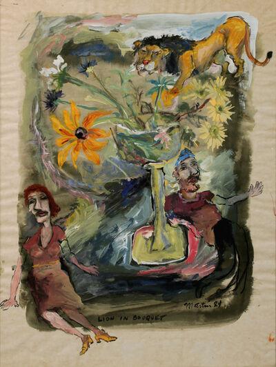 James Martin, 'Lion In Bouquet', 1984