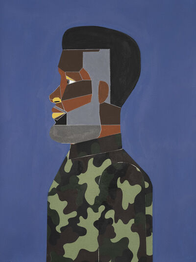 Derrick Adams, 'Man in Tidal Blue', 2017