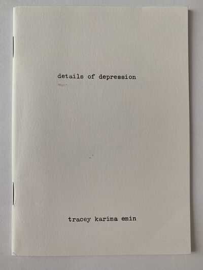 "Tracey Emin, 'TRACEY EMIN ""DETAILS OF DEPRESSION"" NUMBERED 12', 2003"