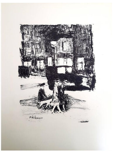 "Pierre Bonnard, 'Original Lithograph ""The Street"" by Pierre Bonnard', 1927"