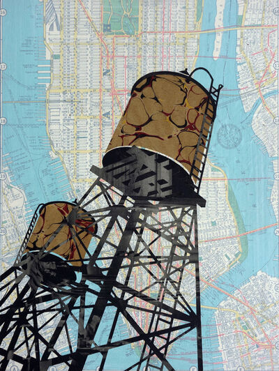 William Steiger, 'Watertowers Manhattan', 2020