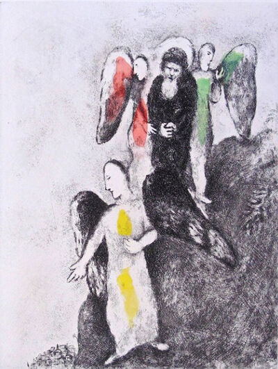 Marc Chagall, 'The Descent Toward Sodom', 1956