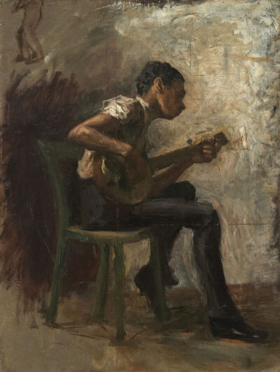 "Thomas Eakins, 'Study for ""Negro Boy Dancing"": The Banjo Player', probably 1877"