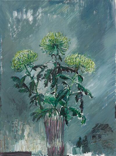 Sabine Moritz, 'Drei grüne Chrysanthemen (Three green Chrysanthemum)', 2015