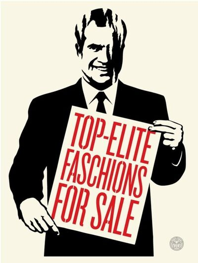 Shepard Fairey (OBEY), 'Top elite faschions for sale', 2011