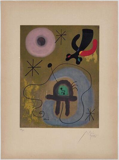 Joan Miró, 'Mauve de la lune', 1952