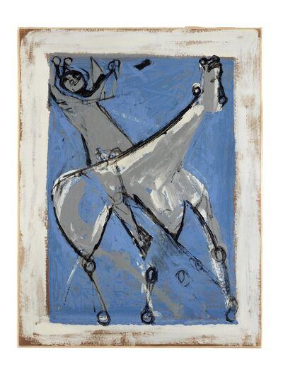 Marino Marini, 'Cavallo e Cavaliere (Blu)', 1951