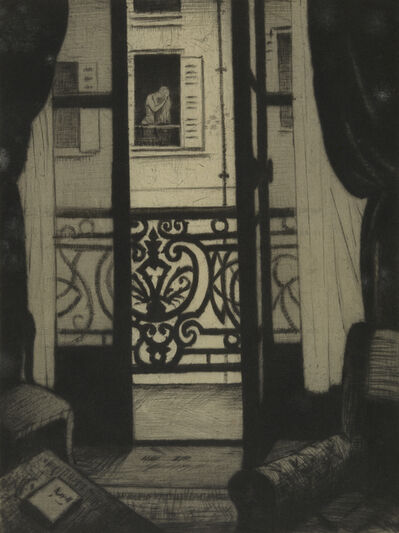 Christopher Richard Wynne Nevinson, 'From a Paris Window', 1922