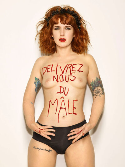 Bettina Rheims, 'Sarah Constantin, Délivrez nous du Mâle, mai 2017, Paris', 2017
