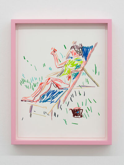Guy Yanai, 'Haydée in Chair with Teapot', 2019