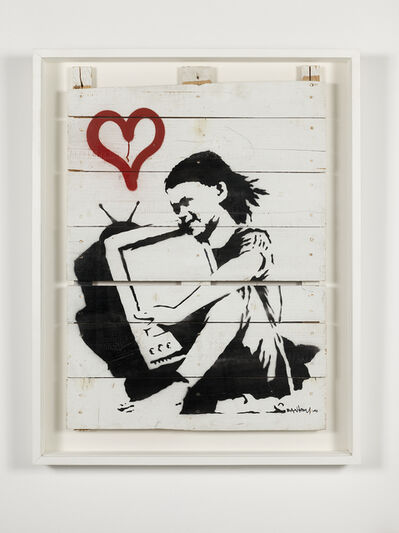 Banksy, 'Girl With TV (Unique)', 2004