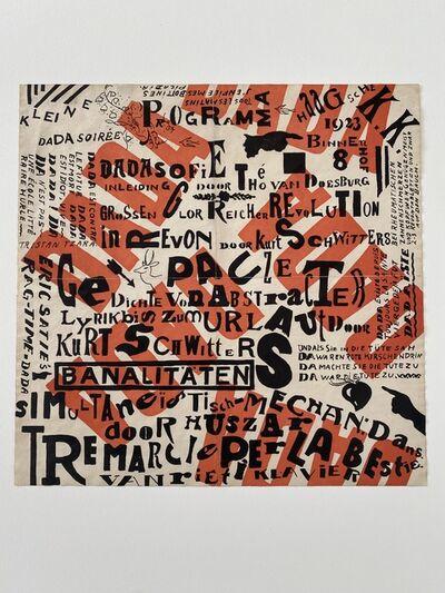 Theo Van Doesburg & Kurt Schwitters, 'Kleine Dada Soirée ( Small Dada Evening )', 1922