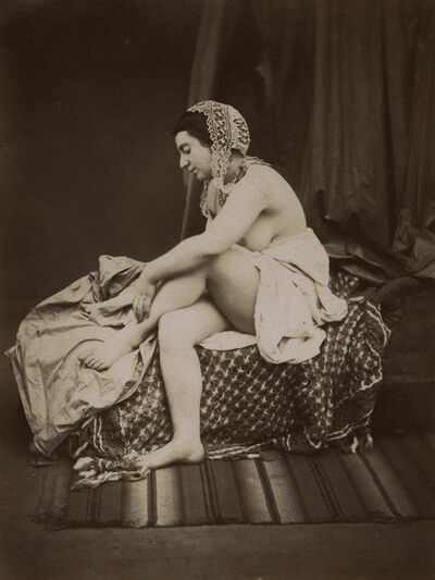 Auguste Belloc, 'Female Nude on Chaise Lounge', 1850s