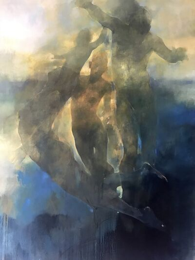 Bill Bate, 'Ethereal - abstract figurative painting', 2020