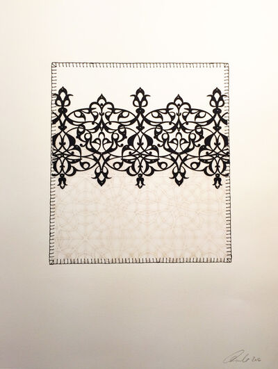 Anila Quayyum Agha, 'Antique Lace - Rectangle Black 1', 2016
