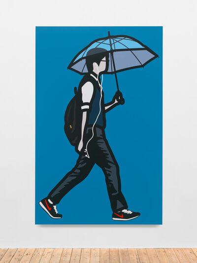 Julian Opie, 'Clear umbrella', 2014