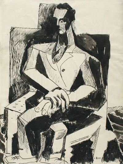 R. Leroy Turner, 'Untitled (Seated Man)', ca. 1932