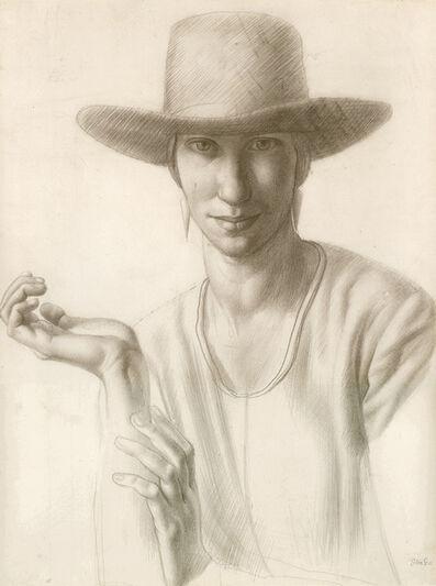 Colin Gill, 'Portrait of Winnifred Knights', 1921