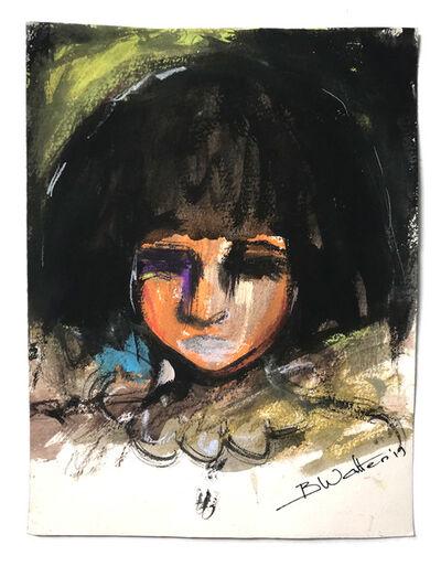 Bonnie Walters, 'Girl with black bob', 2019