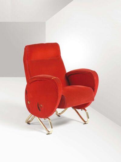Carlo Mollino, 'An armchair from the 1952 RAI Auditorium in Turin', 1952