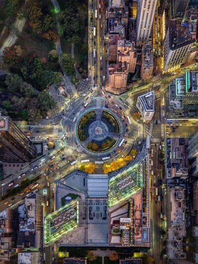Jeffrey Milstein, 'NYC Columbus Circle - NY Aerials', 2019