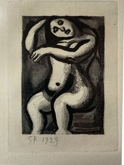 Georges Rouault, 'Nu Assis, from the Les Réincarnations du Père Ubu Portfolio', 1929