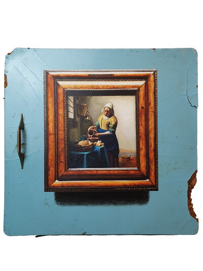 "Julio Anaya Cabanding, 'Johannes Vermeer.  ""The Kitchen Maid""', 2019"