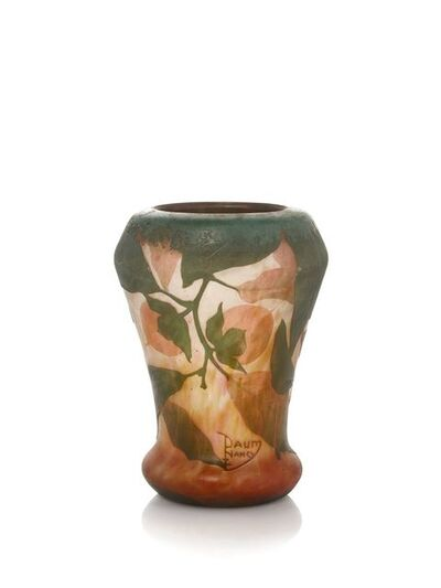 Daum, 'a double overlay Cameo glass 'Japanese Persimon' vase', c. 1910