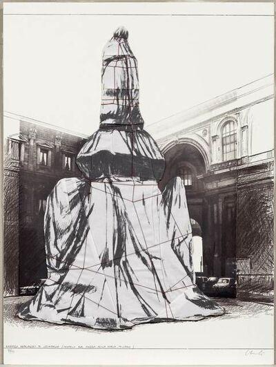Christo, 'Wrapped Monument to Leonardo, Project for Piazza della Scala, Milan', 1971