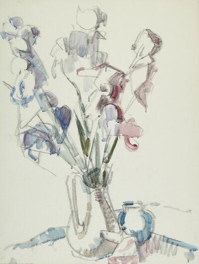 Herbert Barnett, 'Irises in a Pitcher', 1956