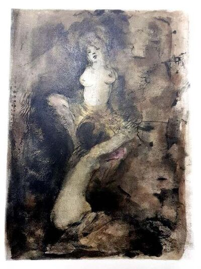 Leonor Fini, 'Leonor Fini - Pleasure - The Flowers of Evil - Original Lithograph', 1964