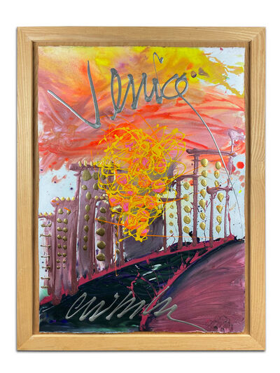 Dale Chihuly, 'Dale Chihuly over Venice Original Acrylic Drawing Contemporary Art Painting', C. 1997 -1999